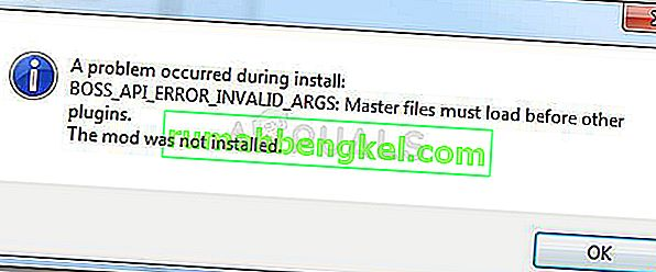 Poprawka: Nexus Mod Manager & bdquo; Wystąpił problem podczas instalacji & rdquo;