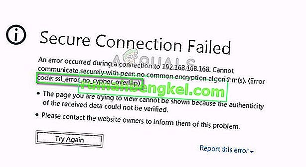 Firefox에서 SSL_ERROR_NO_CYPHER_OVERLAP을 수정하는 방법