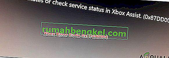 Как да коригирам код за грешка на Xbox 0x87dd0004?