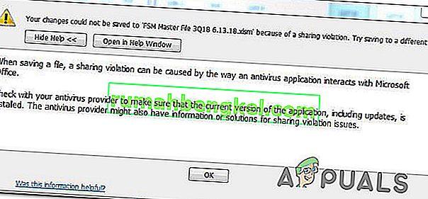 Как да коригирам грешка при нарушаване на споделяне в Excel