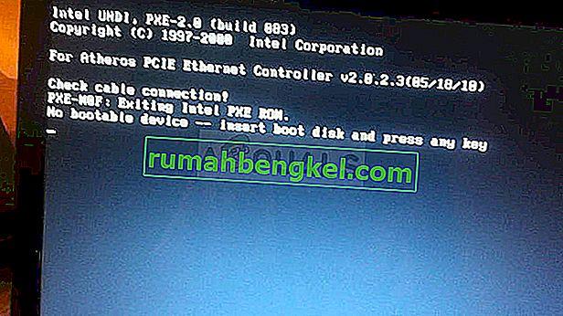 Поправка: Няма стартиращо устройство - Поставете стартиращ диск и натиснете произволен клавиш