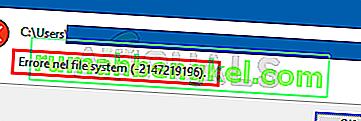 Solución: error del sistema de archivos -2147219196 al abrir la aplicación Windows Photo