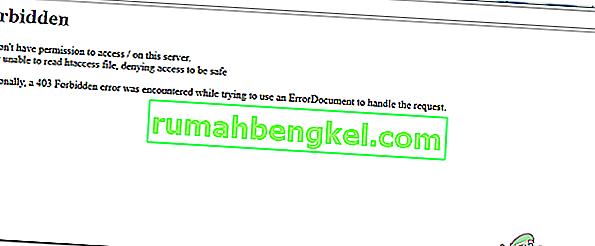Як виправити & lsquo; Заборонено - ви не маєте дозволу на доступ / на цьому сервері & rsquo; на домені після налаштування Apache?