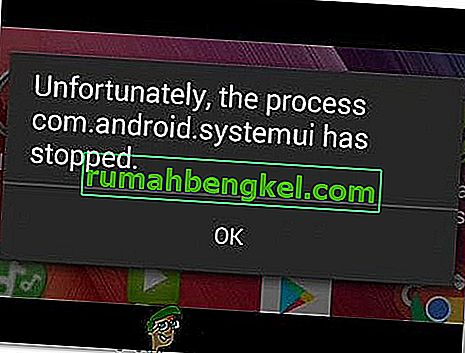 ВИПРАВЛЕННЯ: com.process.systemui зупинився