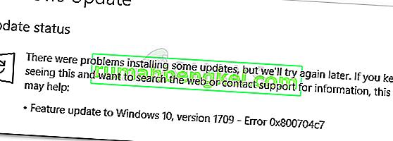 수정 : Windows 10에서 Windows 업데이트 오류 0x800704c7