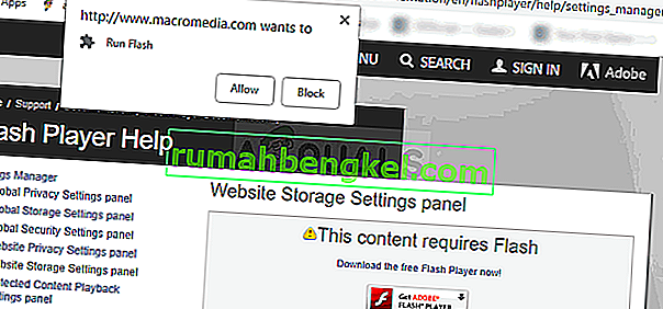 Панел Macromedia Website Storage Settings