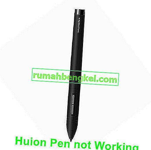 Huion Pen não funciona