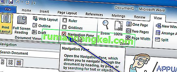 Как да премествам страници в Microsoft Word
