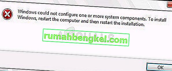 תיקון: Windows לא הצליח להגדיר רכיב מערכת אחד או יותר