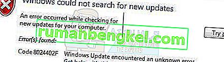 كيفية إصلاح خطأ Windows Update 8024402F