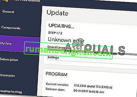 Como resolver & lsquo; Falha na atualização das definições de vírus & rsquo; no Avast Antivirus?