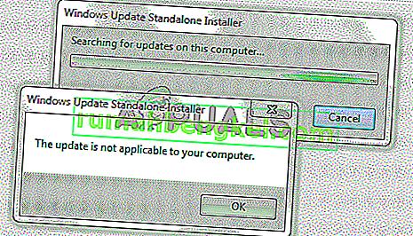 修正:このアップデートはお使いのコンピュータには適用されません
