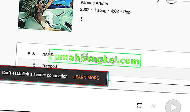 Poprawka: nie można nawiązać bezpiecznego połączenia z Muzyką Google Play
