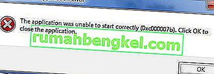 Correção: Erro 0xc00007b & ldquo; O aplicativo não foi iniciado corretamente & rdquo;