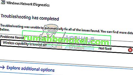 Solución: la capacidad inalámbrica está desactivada