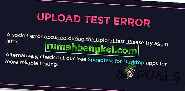 Cómo reparar el error de socket ocurrido en SpeedTest