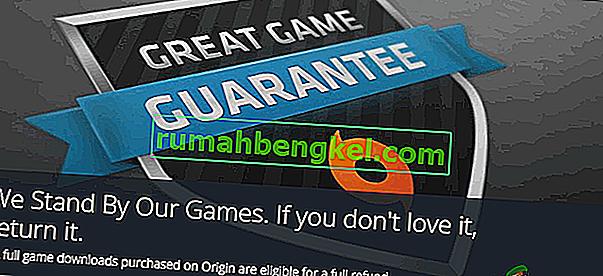 Origin Gamesの払い戻しを受ける方法は?