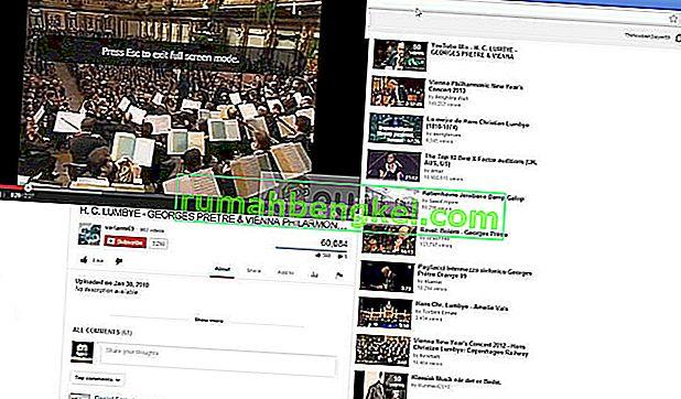 Poprawka: pełny ekran YouTube nie działa