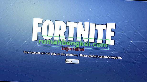 'アカウントがこのプラットフォームで再生できない'の修正方法' Fortniteのエラー?