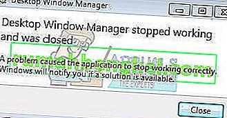 إصلاح: توقف مدير نافذة سطح المكتب عن العمل وتم إغلاقه