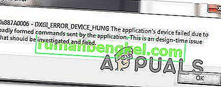 Poprawka: Błąd silnika Apex Legends 0x887a0006