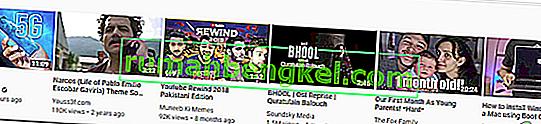 Cómo eliminar videos recomendados en YouTube