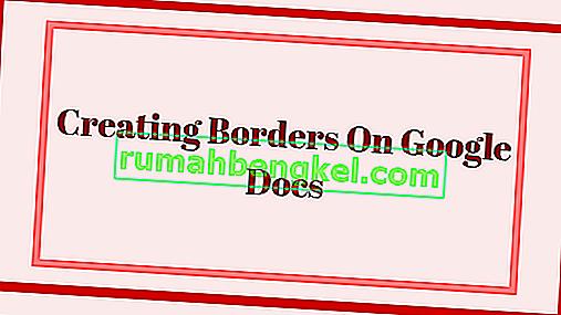 كيفية إنشاء حدود على مستندات جوجل