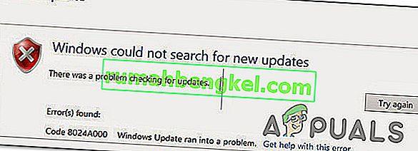 Windows Updateエラーコード8024A000の修正方法